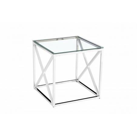 Table d'appoint - Table d'appoint 'Oceane' Argent