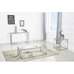 Table console - Console 'Oceane' Argent